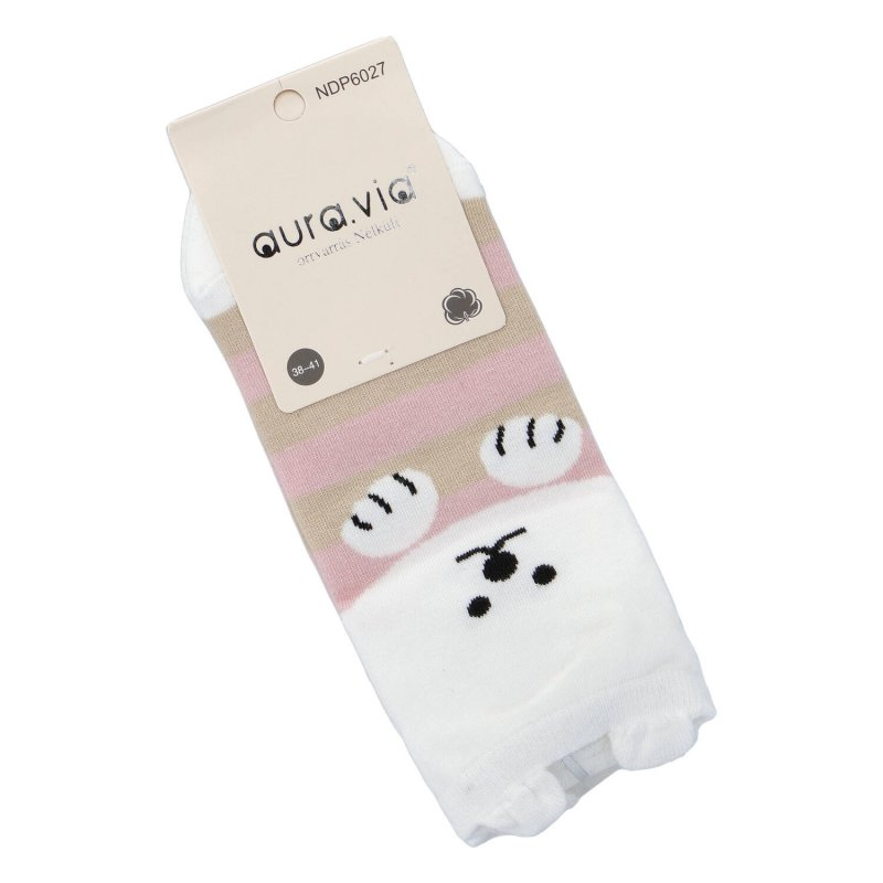 Kotníčkové ponožky Aura via Medvídek s ušima 35-38, růžové