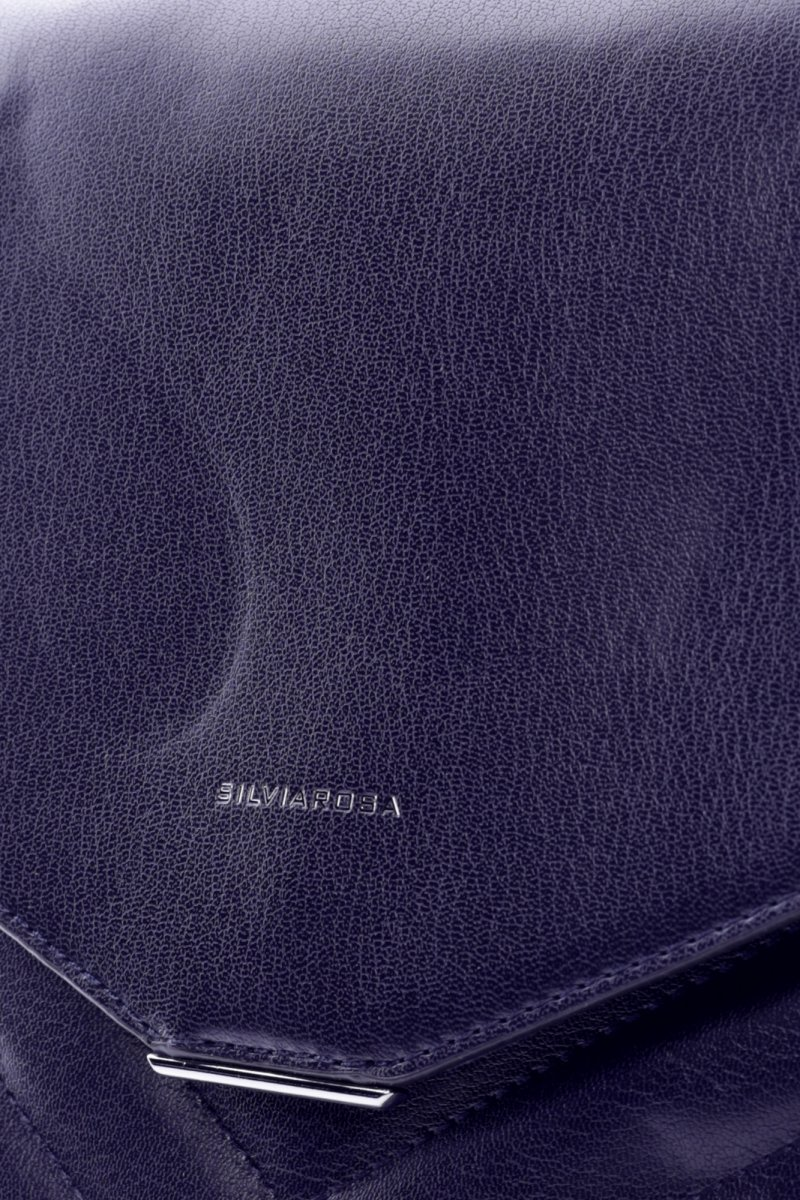 Dámský koženkový batůžek s prošíváním Lilac modrá