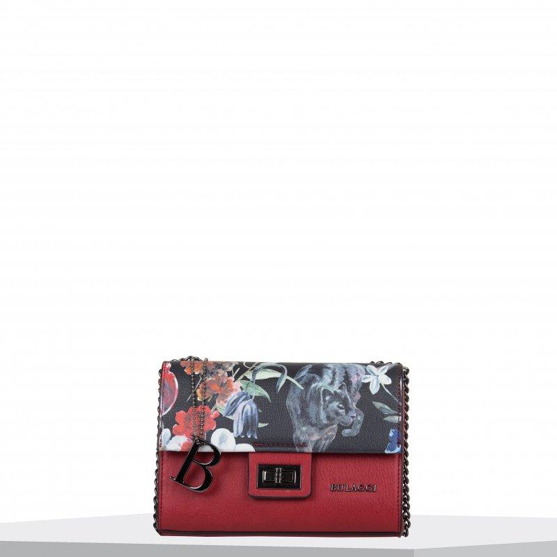 Extravagantní dámská koženková kabelka BULAGGI Crossbody Tulip, červená