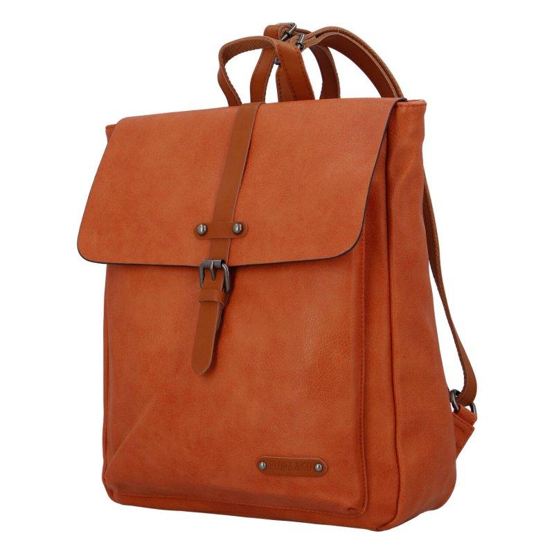 Dámský městský batoh Flora Natural, oranžový