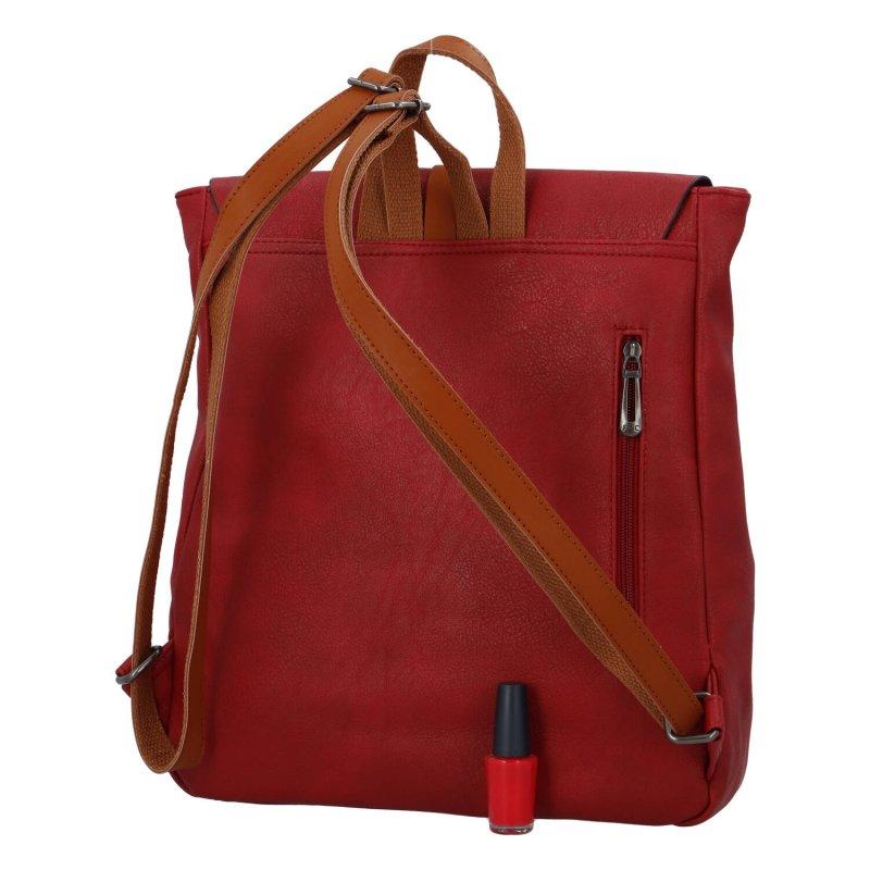 Dámský městský batoh Flora Natural, červený