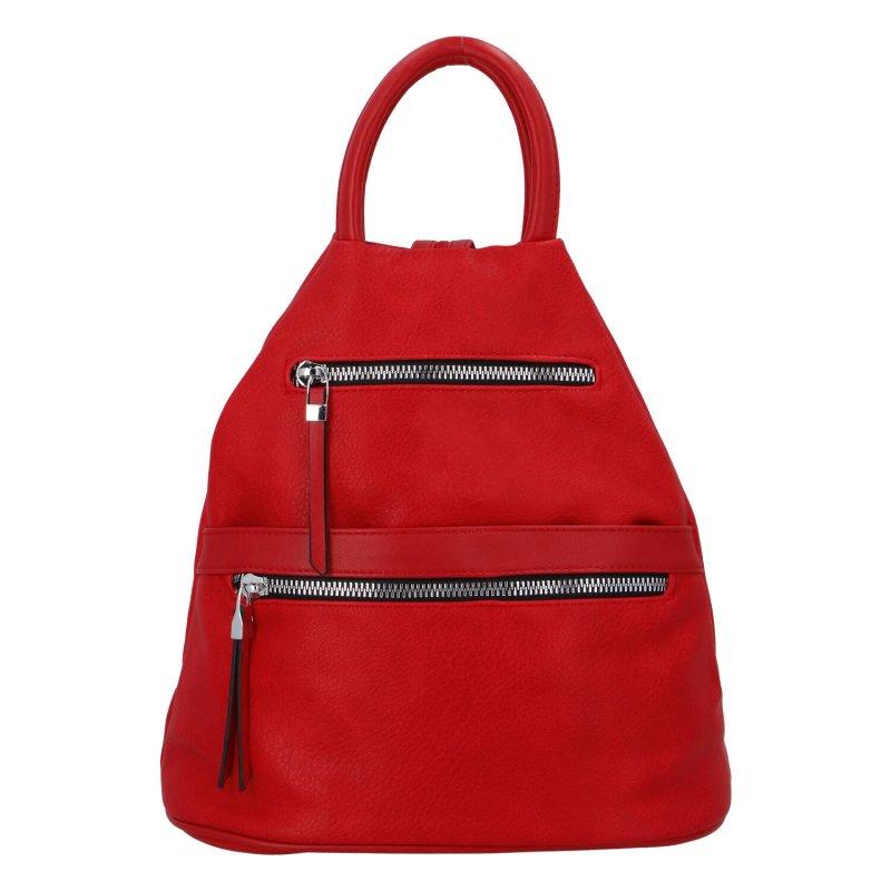 Praktický městský batoh Cindy D., červený