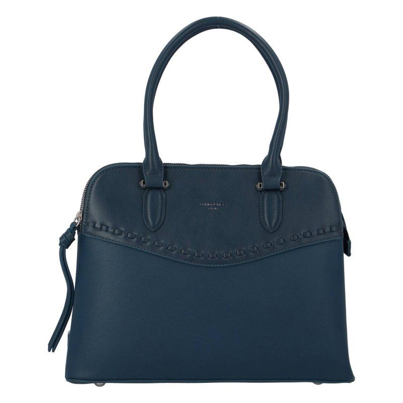 Praktická dámská koženková kabelka Lenka D., modrá