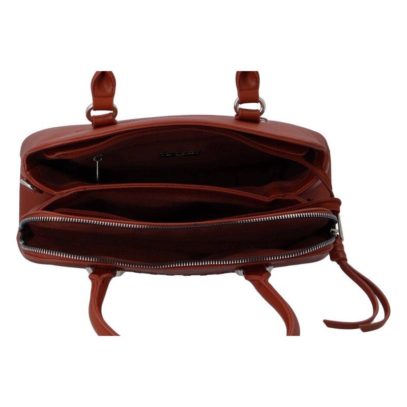 Praktická dámská koženková kabelka Lenka D., červená