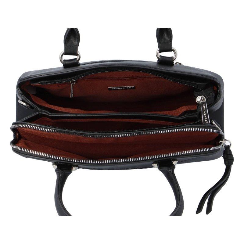 Praktická dámská koženková kabelka Lenka D., černá
