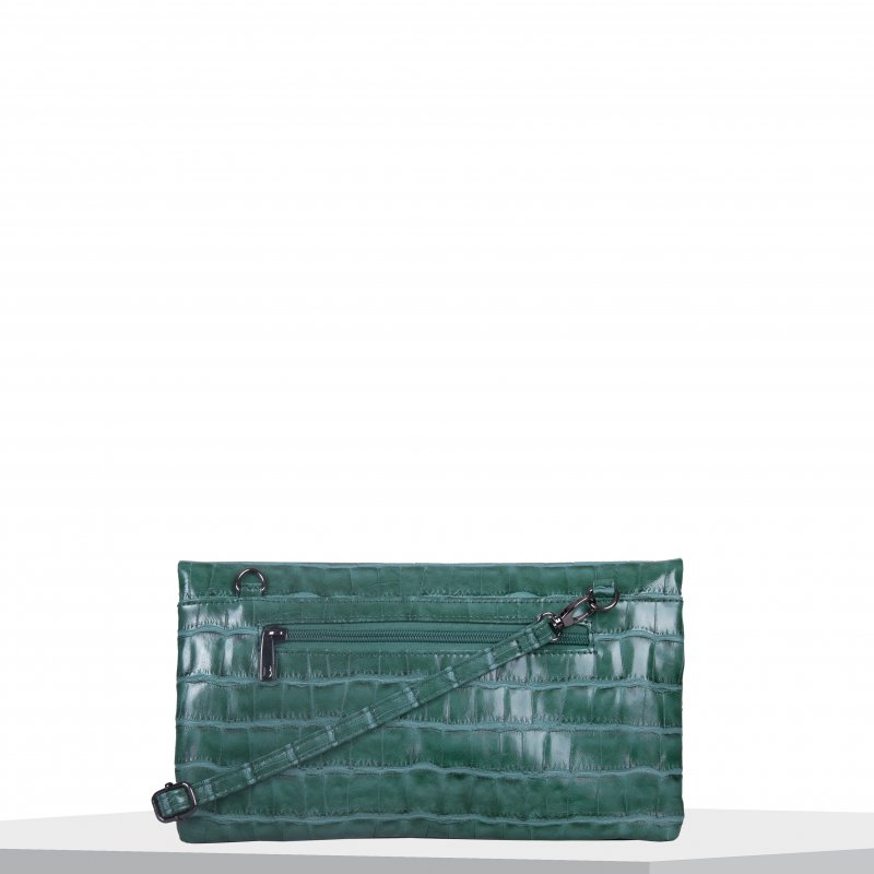 Společenská kabelka BULAGGI Croc, smaragdově zelená