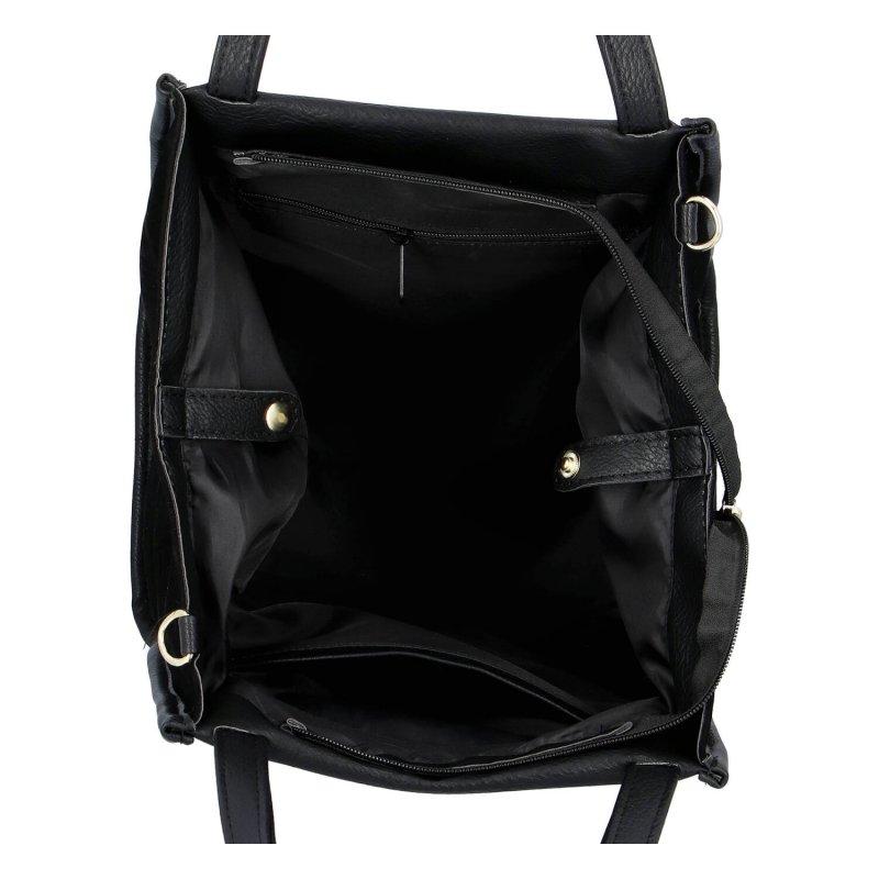 Moderní dámská koženková kabelka MASSIMO Nella, černo zlatá had