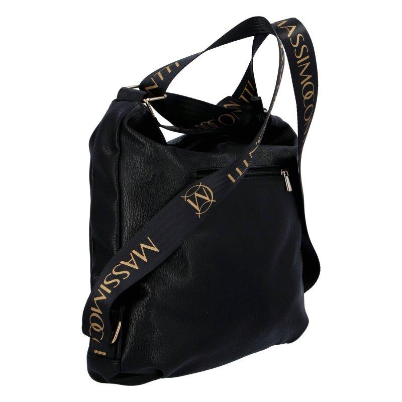 Moderní dámský kabelko batoh  MASSIMO Cindy, černo zlatá