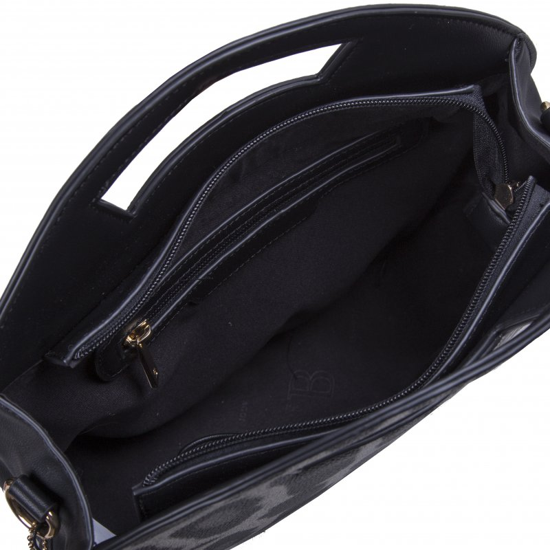 Dámská koženková kabelka BULAGGI Leo, černo bílá