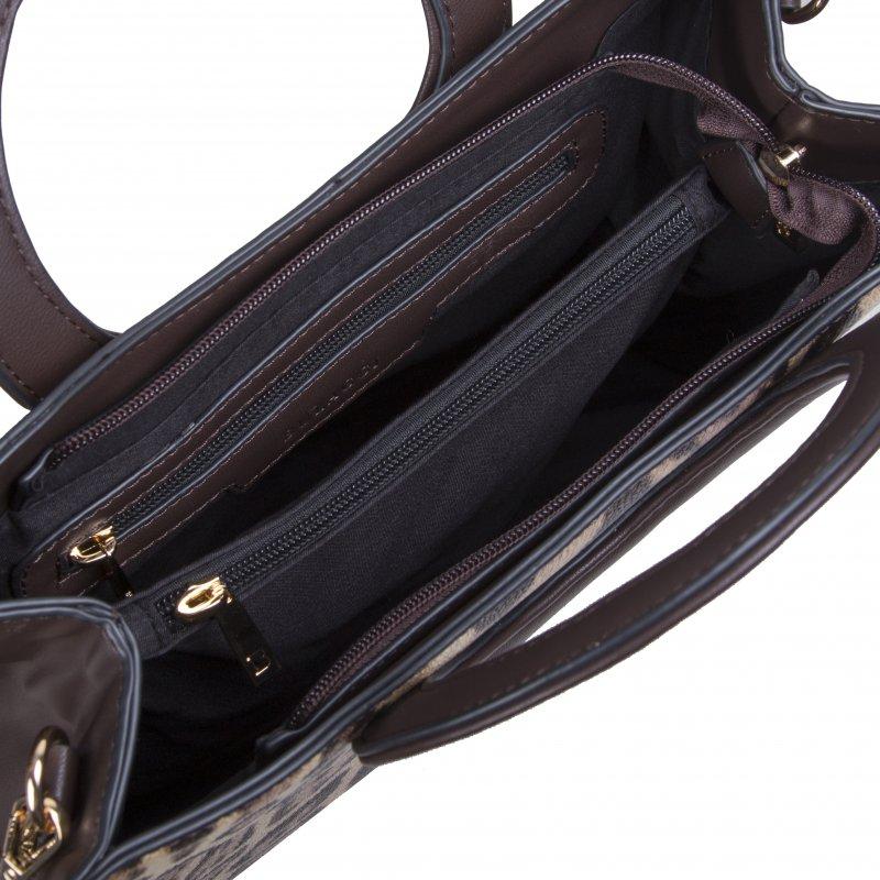 Luxusní dámská koženková kabelka BULAGGI Leo, hnědá
