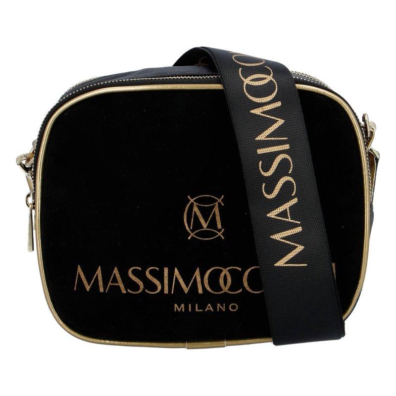 Praktická menší koženková kabelka MASSIMO small dream, černá