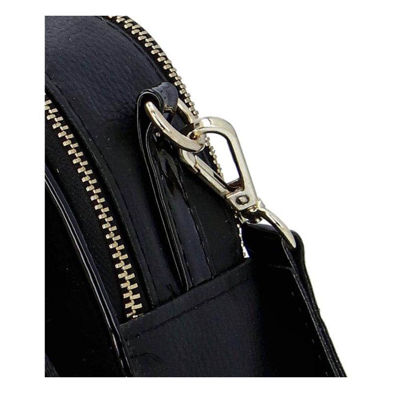 Praktická menší koženková kabelka MASSIMO small dream, černo zlatá