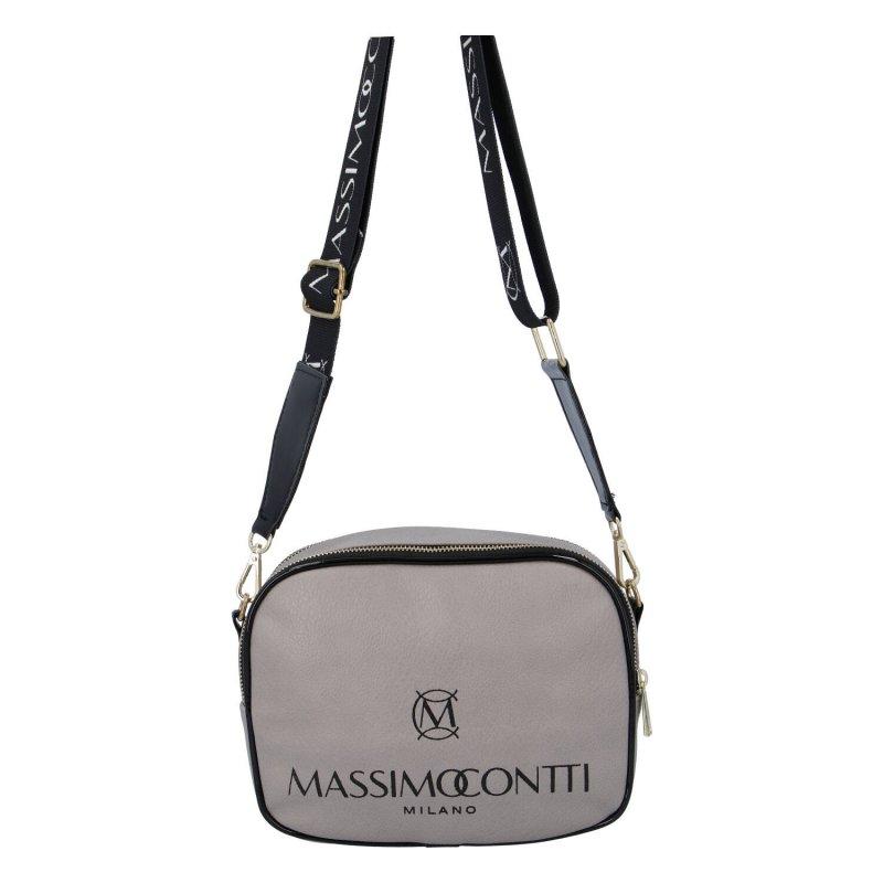 Praktická menší koženková kabelka MASSIMO small dream, šedá