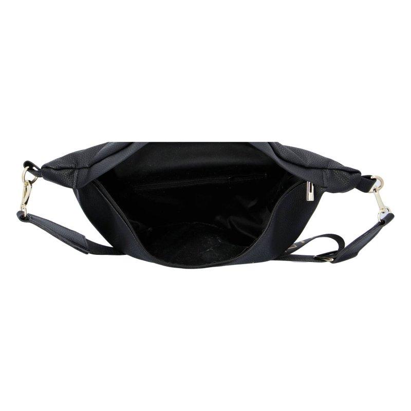 Moderní dámská koženková kabelka MASSIMOS, černá