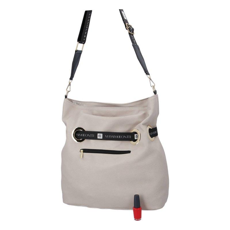 Praktická dámská koženková kabelka MASSIMO bella, béžová
