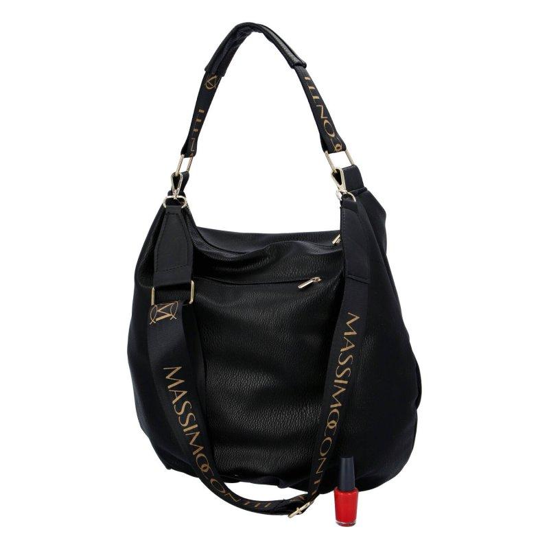 Moderní dámská koženková kabelka MASSIMO Selma, černá