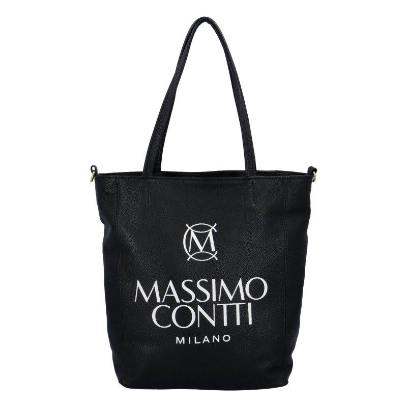 Praktická dámská koženková kabelka MASSIMO elegance, černá