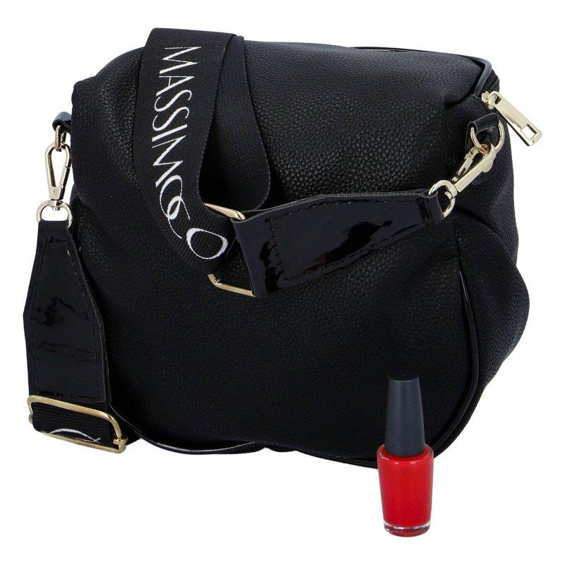 Praktická dámská koženková kabelka MASSIMO sport, černá