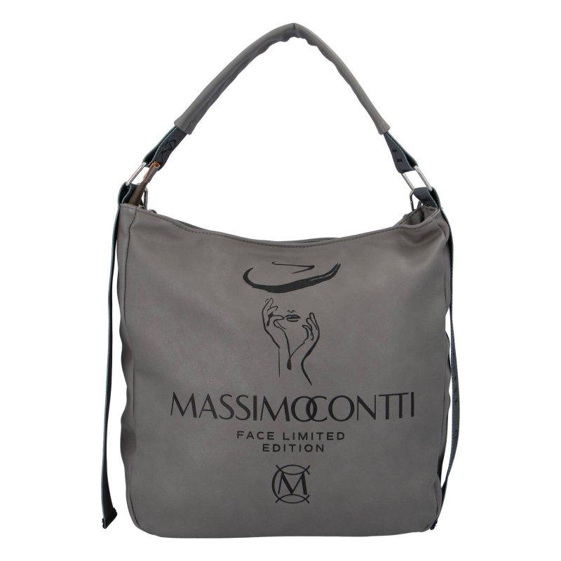 Designová dámská kabelka Mass.Con., šedá