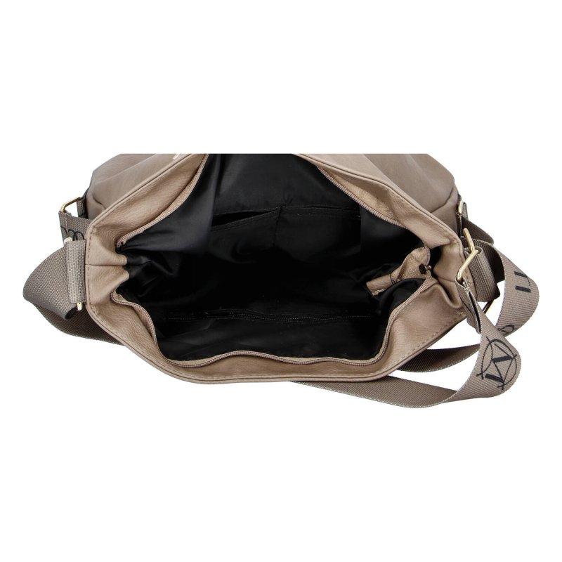 Trendový dámský koženkový kabelko-batoh M.C.Milano,kávový