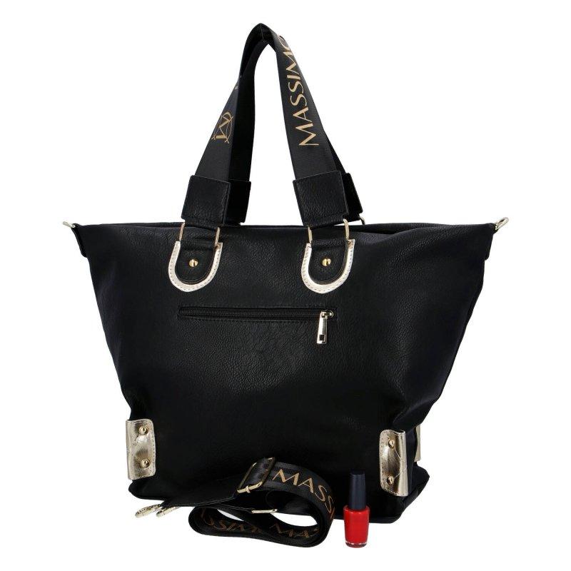 Velká dámská koženková kabelka MASSIMO Imin, černá