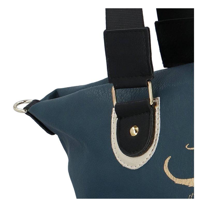 Velká dámská koženková kabelka MASSIMO Imin, zelená