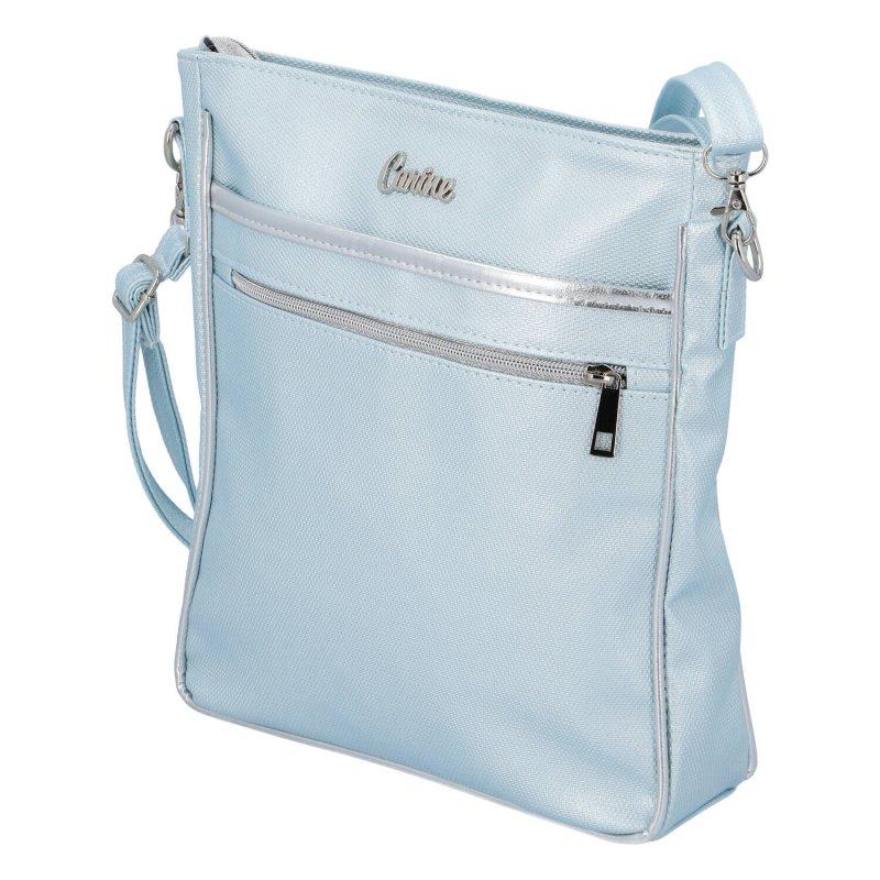 Moderní dámská koženková kabelka Carine C., modrá