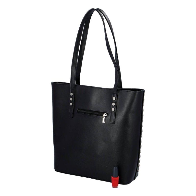 Elegantní dámská koženková kabelka Delami stylish, černá