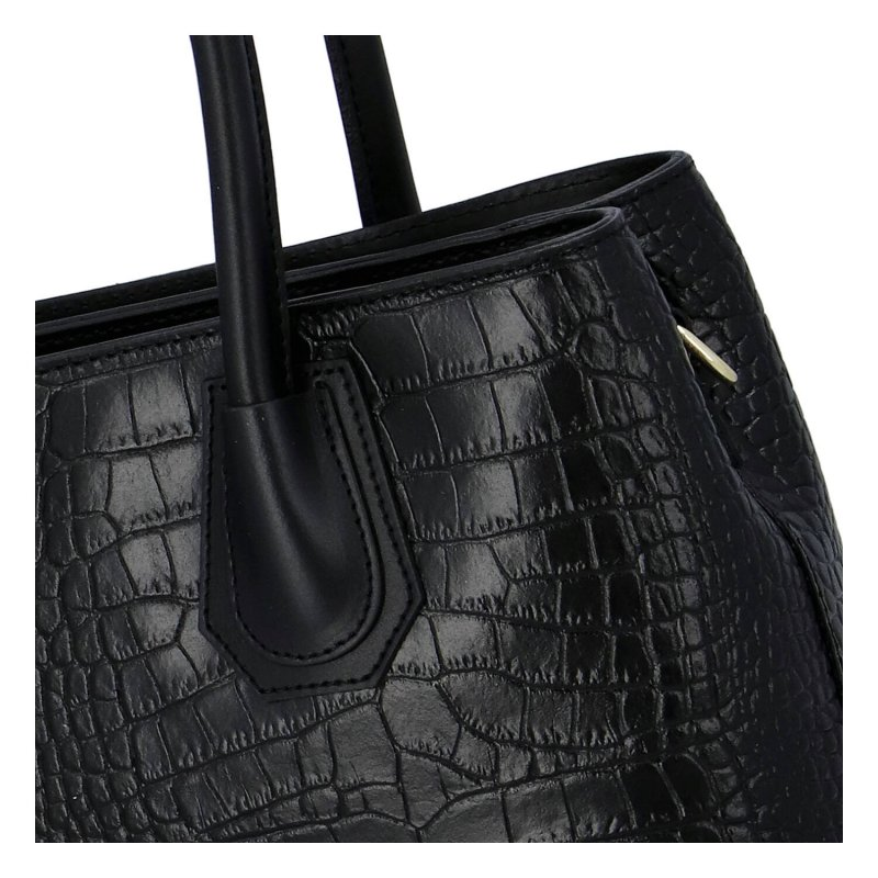 Elegantní dámská kožená kabelka Sarah Elegance, černá