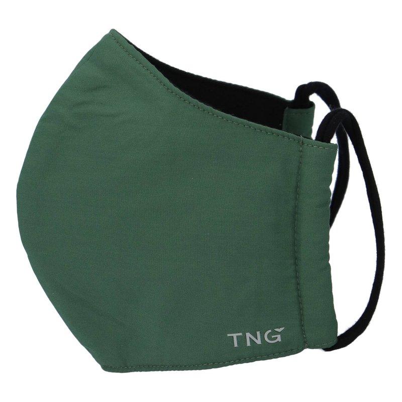Stylová antibakteriální rouška TNG Dark green, třívrstvá, velikost L