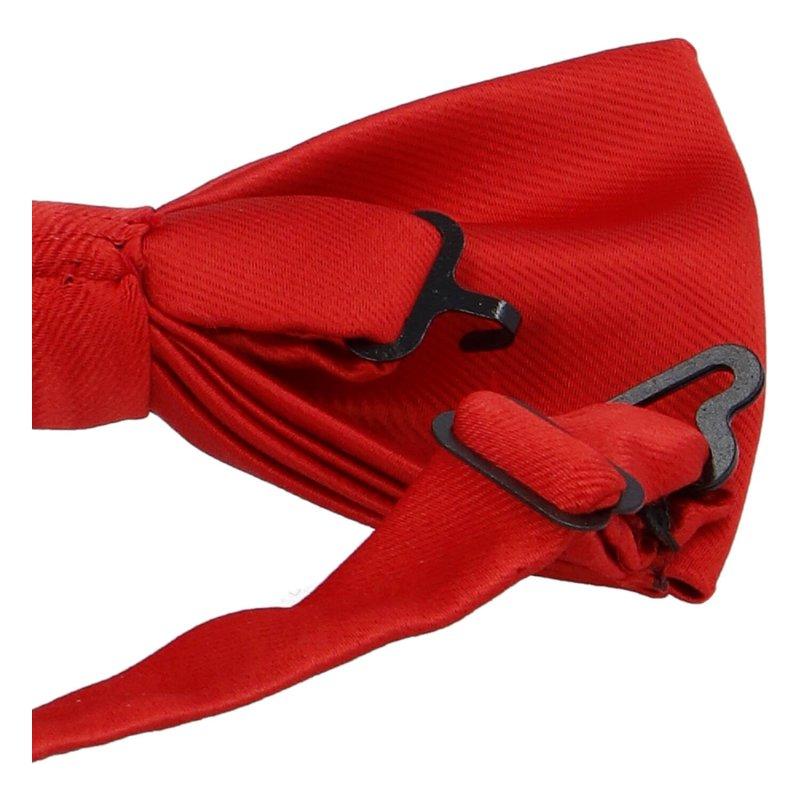 Pánský společenský motýlek s kapesníčkem, červená