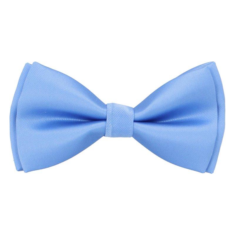 Pánský společenský motýlek s kapesníčkem, světle modrá