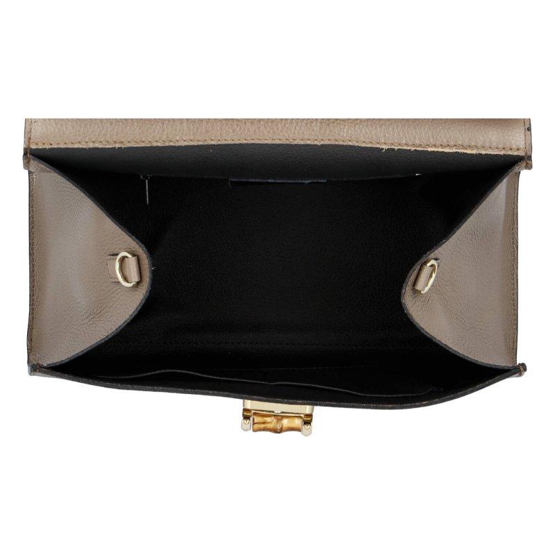 Elegantní dámská kožená kabelka Leather Star , taupe