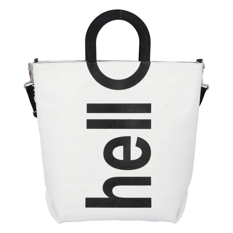 Extravagantní dámská kabelka Biaggi Hell, bílo černá