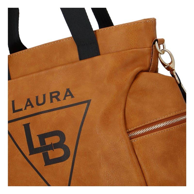 Sportovně elegantní dámská koženková kabelka Laura Sport, hnědá