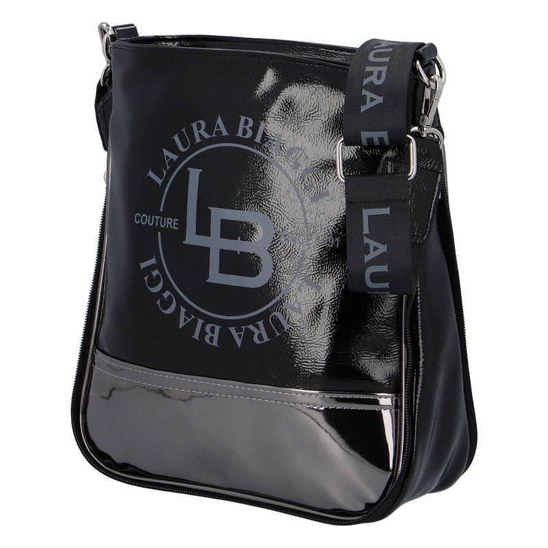 Moderní dámská koženková kabelka Laura Lak, černá