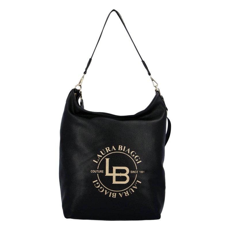 Dámská koženková kabelka Laura Blackish, černá