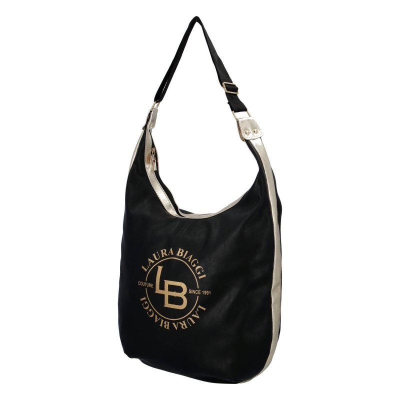 Moderní dámská koženková kabelka Laura B. modern, černá