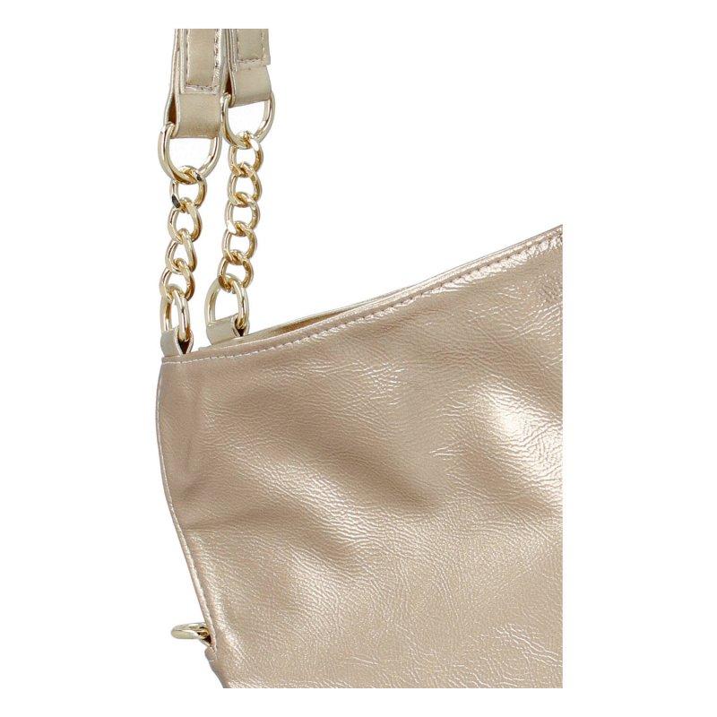 Moderní dámská kabelka LB just gold, zlatá