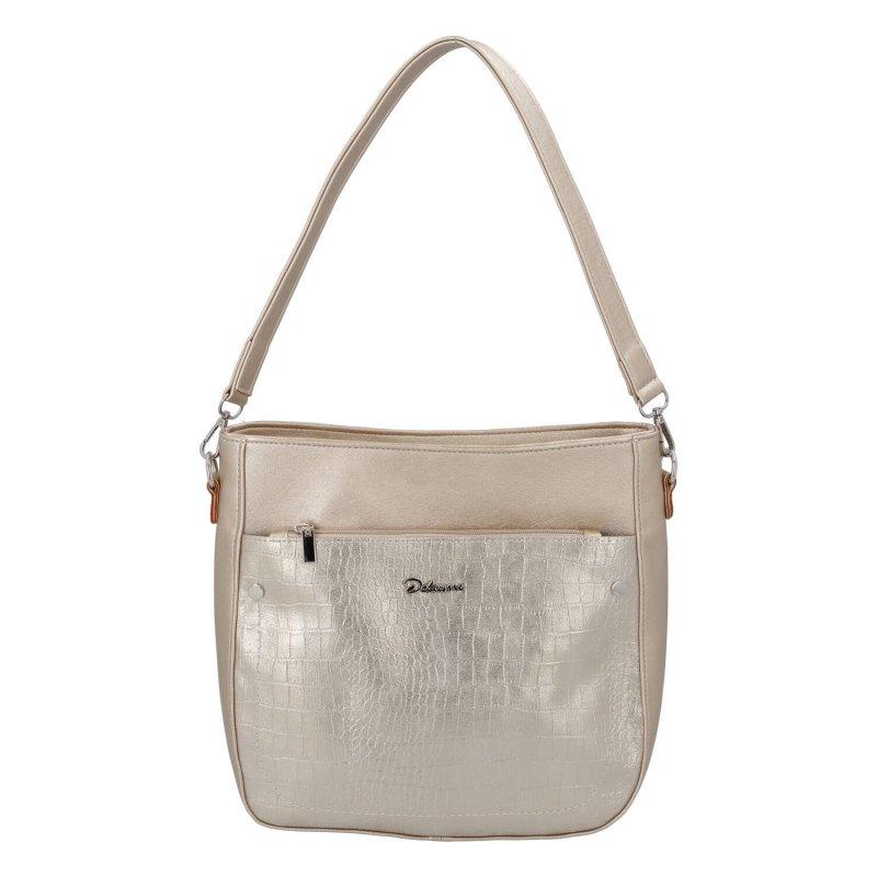 Luxusní dámská koženková kabelka elegant Sendy, zlatá