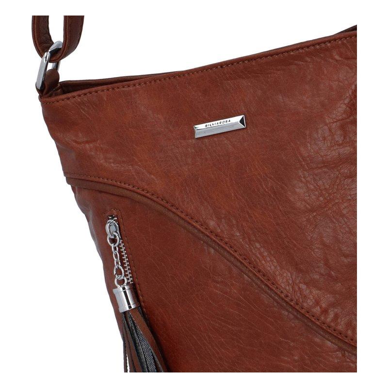 Sportovní dámská koženková crossbody kabelka Enjoy Sisi, hnědá