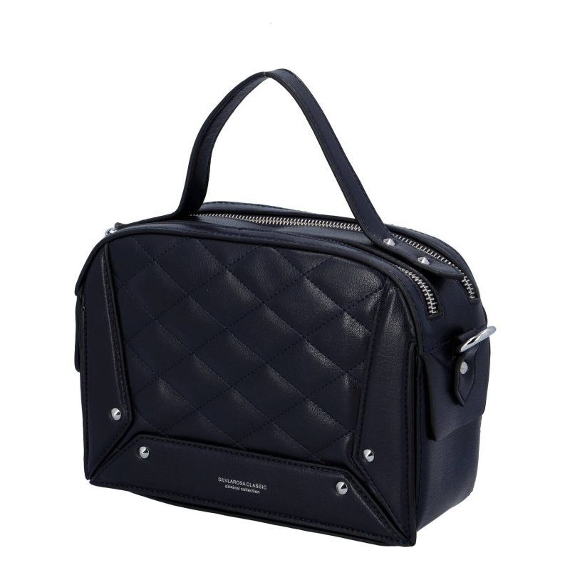 Stylová dámská koženková kabelka Stylish Sandra, modrá