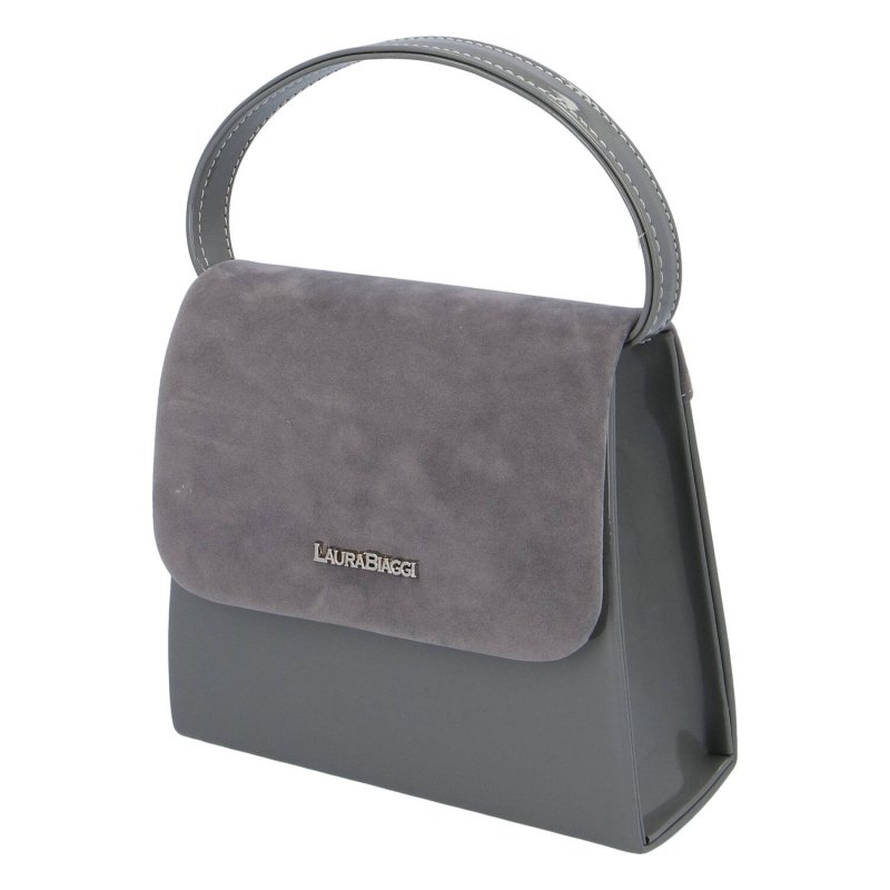 Elegantní společenská kabelka Laura Biaggi, šedá