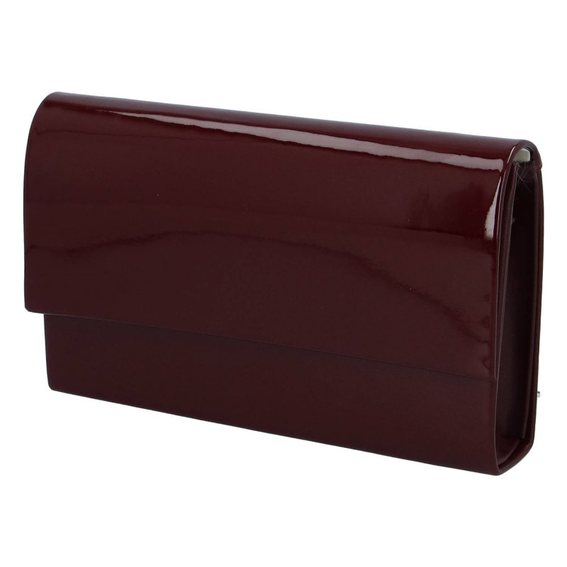 Společenská dámská lakovaná kabelka Carla B., bordo