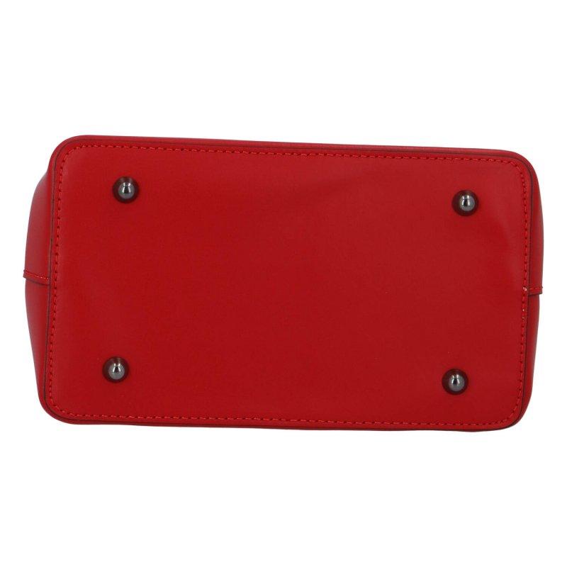 Dámská kožená kabelka do ruky Brisa, červená
