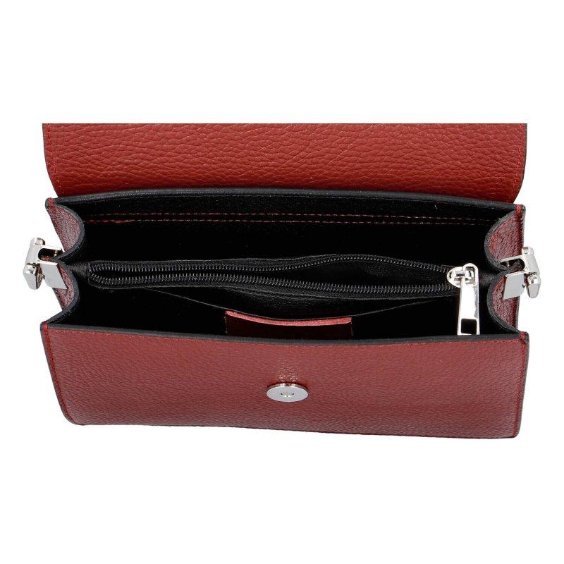Kožená crossbody kabelka basic Socorro, červená