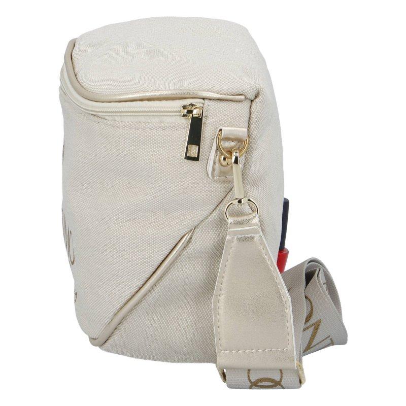 Trendová dámská kabelka ledvinka Massimo sportish, béžová