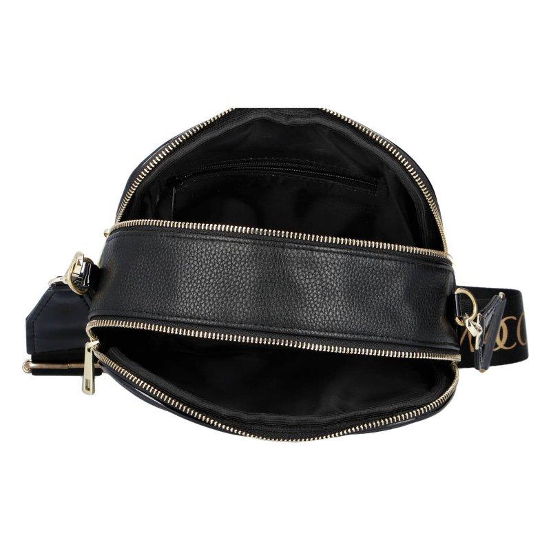 Praktická menší koženková kabelka MASSIMO small dream black, černá