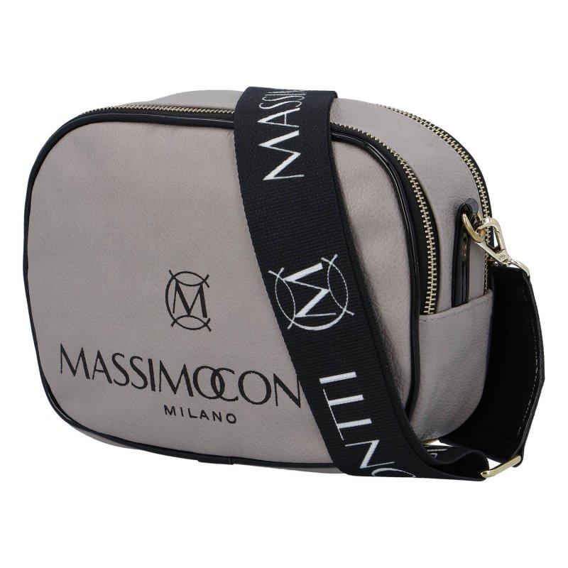 Praktická menší koženková kabelka MASSIMO small dream, taupe