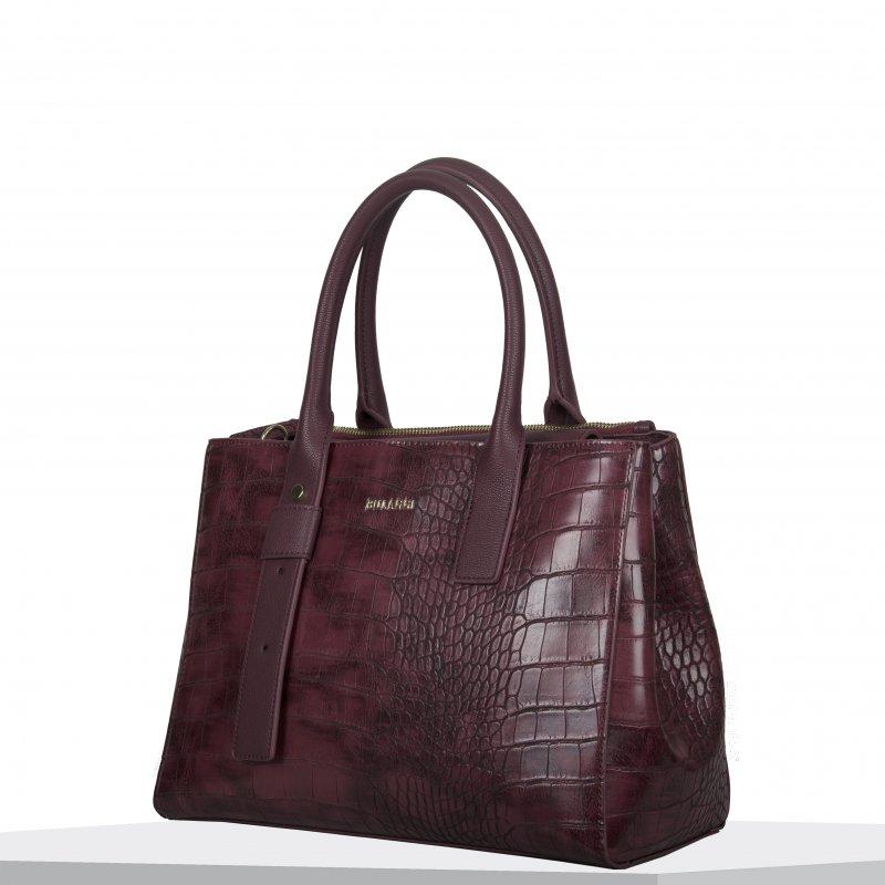 Dámská koženková kabelka BULAGGI shopping Iris, vínová